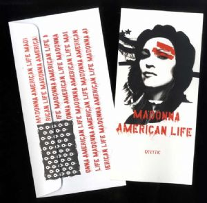 AMERICAN LIFE - UK PROMO LAUNCH PARTY INVITE
